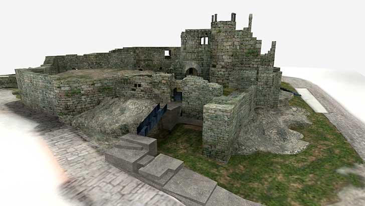 Castillo de Ribadavia. Reconstrucción 3D de revives