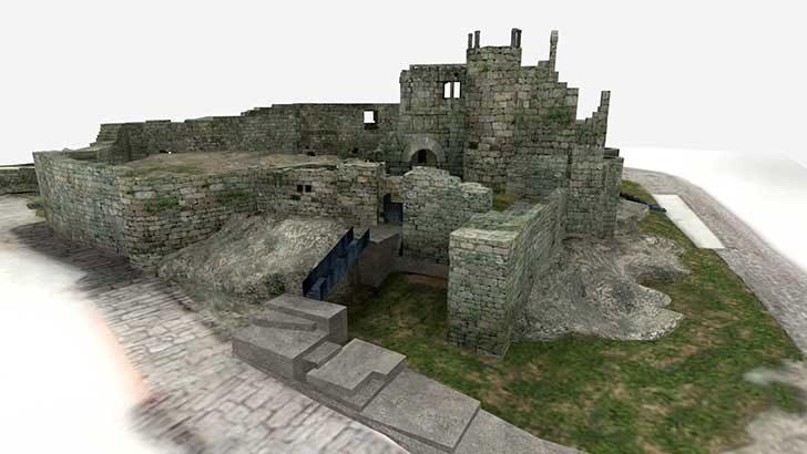 Reconstrucción virtual revives Castillo y Judería de RIBADAVIA
